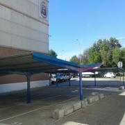 carports pour le parking du supermarche Mercamadrid
