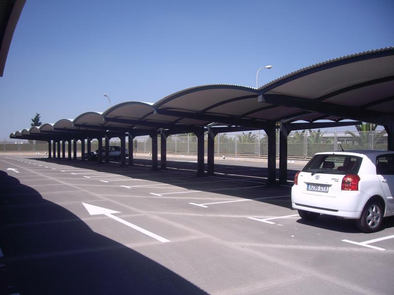marquesina de aparcamiento aeropuerto
