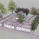 Estructura modular para alojamientos temporales en Madrid