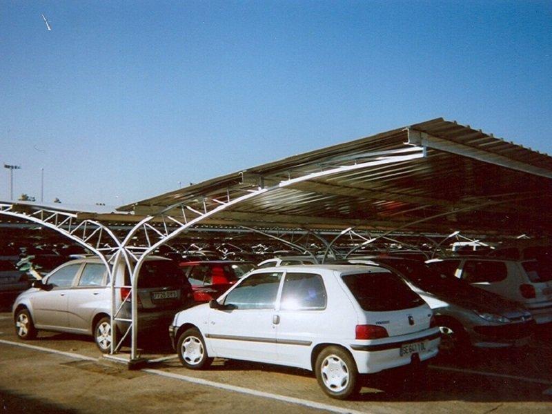 Marquesina de aparcamiento modelo celosia