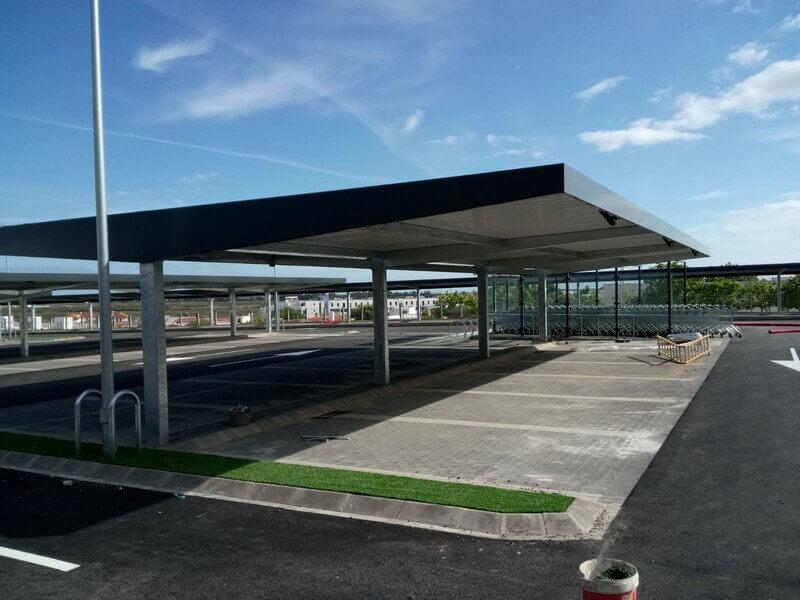 Marquesinas de aparcamiento con Alucobond para Lidl 01