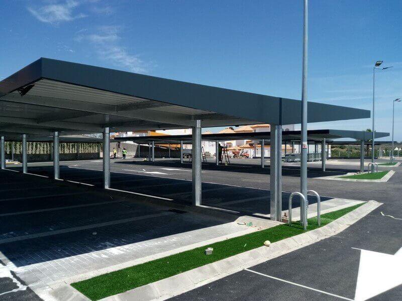 Marquesinas de aparcamiento con Alucobond para Lidl 06