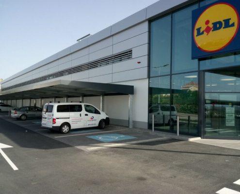 Marquesinas de aparcamiento con Alucobond para Lidl 17