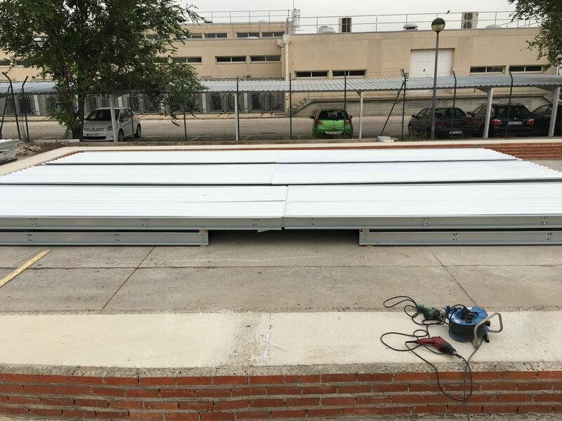 Nave prefabricada plegable en Barajas para AENA 02