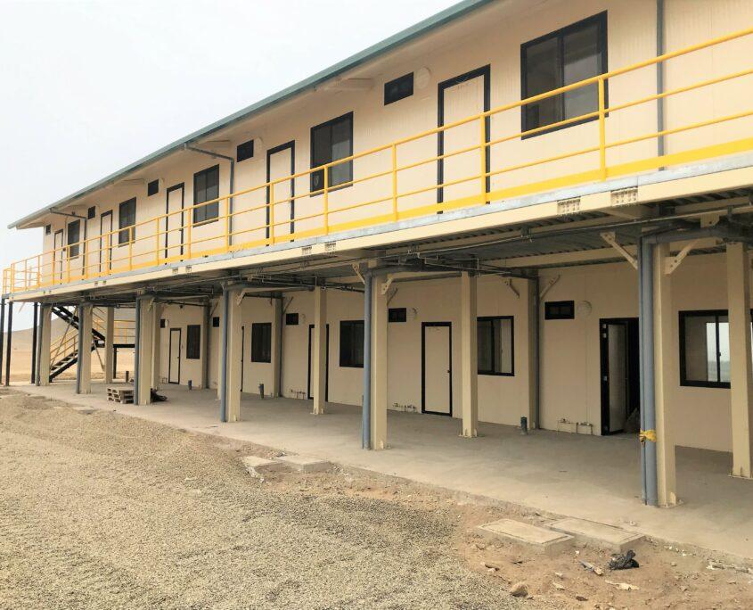 campamento construcción modular