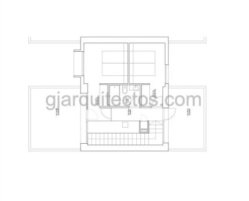 casa prefabricada modular city 001 - plano primera planta