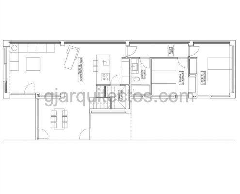 casa prefabricada modular city 002 - plano planta baja