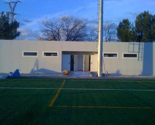 Edificio prefabricado para vestuarios y aseos en Alicante