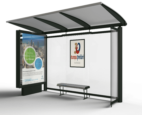 marquesina de autobus mobiliario urbano europa prefabri