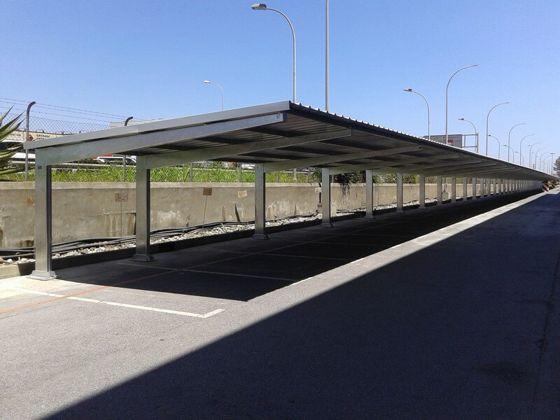 metal parking canopies