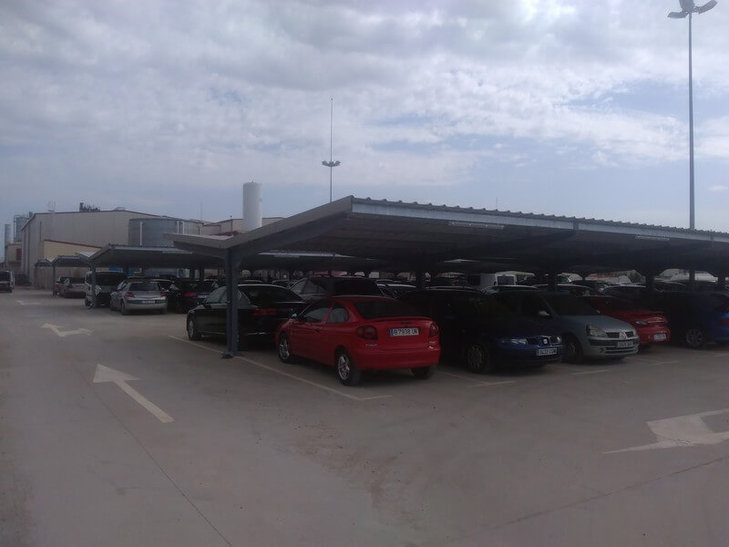 marquesinas de parking para metalogenia en huesca