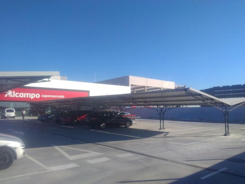 marquesinas de parking para un centro comercial en alcorcon 01