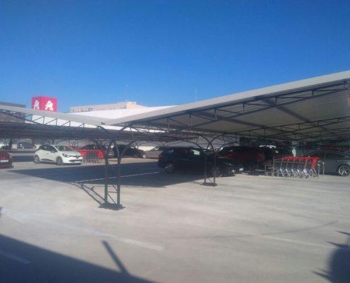 marquesinas de parking para un centro comercial en alcorcon 04