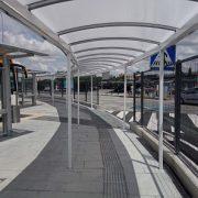 pedestrian walkway canopy