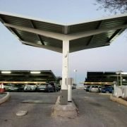 parking canopies for permanent parking access barriers